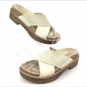 Free People Bone (White) Brickel Footbed Sandals